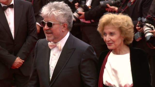 Pedro Almodovar and Marisa Parede at the You Will Meet a Tall dark Stranger Premiere Cannes 2010 Film Festival at Cannes