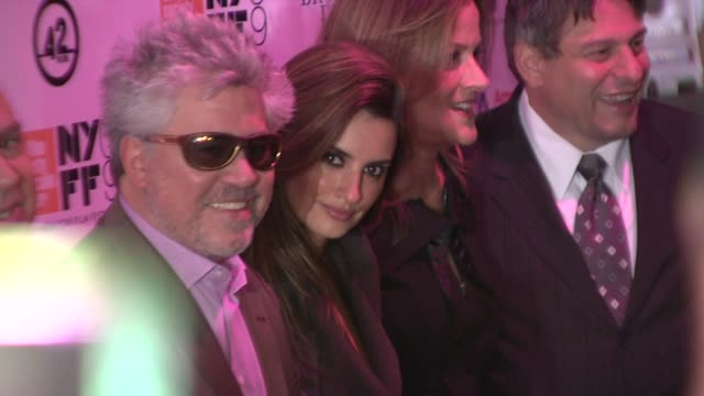 Pedro Almodovar and Penelope Cruz at the 'Broken Embraces' Premiere Closing Night of the New York Film Festival at New York NY