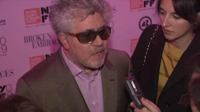 Pedro Almodovar at the 'Broken Embraces' Premiere Closing Night of the New York Film Festival at New York NY