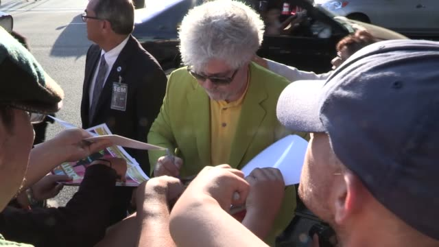 Pedro Almodovar greets fans at I'm So Excited Premiere in LA at Celebrity Sightings in Los Angeles Pedro Almodovar greets fans at I'm So Excited on...