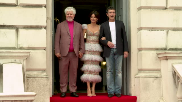 4k pedro almodovar penelope cruz antonio banderas at 'pain glory' uk premiere at the opening night of film4 summer screen on august 08 2019 in london... - actor stock videos & royalty-free footage