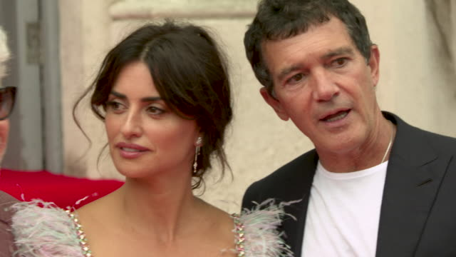 4k pedro almodovar penelope cruz antonio banderas at 'pain glory' uk premiere at the opening night of film4 summer screen on august 08 2019 in london... - antonio banderas stock videos & royalty-free footage