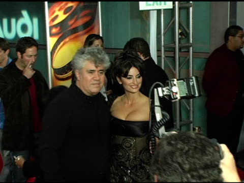 Pedro Almodóvar and Penélope Cruz at the 'Bad Education' Los Angeles Premiere at Arclight Cinemas in Hollywood California on November 7 2004