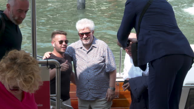 Pedro Almodóvar at Celebrity Sightings in Venice on August 29 2019 in Venice Italy