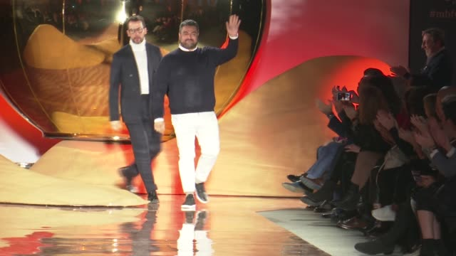 pedro del hierro catwalk mercedes benz fashion week madrid autumn/winter 20192020 - mercedes benz fashion week stock videos & royalty-free footage