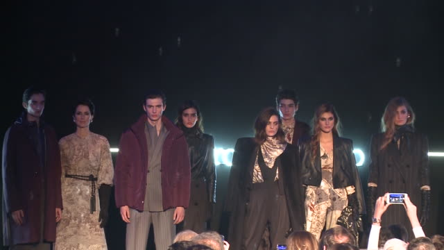 pedro del hierro catwalk mercedes benz fashion week madrid autumn/winter 202021 - arts culture and entertainment stock videos & royalty-free footage