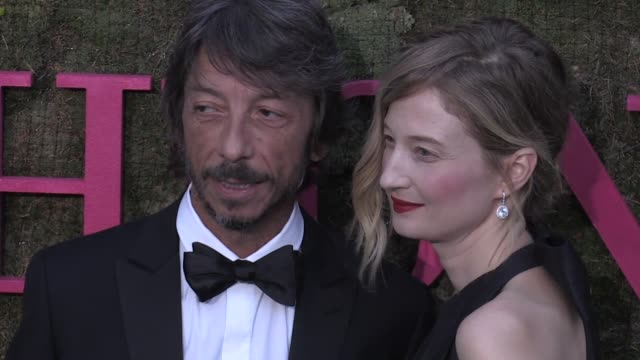 pedro lourenco andreja pejic maxim magnus pierpaolo piccioli and alba rohrwacher tina kunakey renzo rosso arianna alessi and more on the red carpet... - rosso stock videos & royalty-free footage