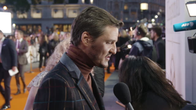 pedro pascal at 'kingsman the golden circle' uk film premiere at odeon leicester square on september 18 2017 in london england - pedro pascal stock videos & royalty-free footage