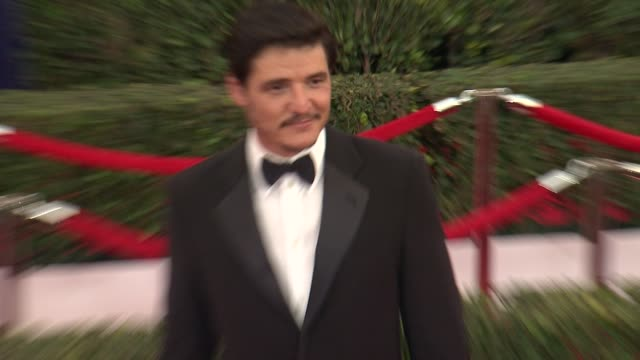 pedro pascal at the 21st annual screen actors guild awards arrivals at the shrine auditorium on january 25 2015 in los angeles california - pedro pascal stock videos & royalty-free footage