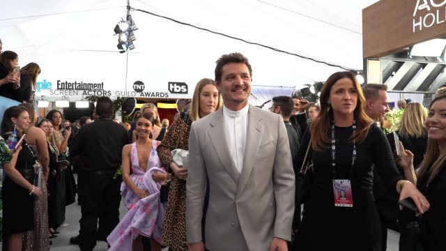 pedro pascal at the 26th annual screen actorsguild awards red carpet roaming at the shrine auditorium on january 19 2020 in los angeles california - pedro pascal stock videos & royalty-free footage