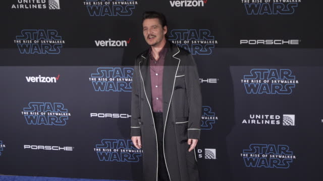 pedro pascal at the premiere of disney's star wars the rise of skywalker on december 16 2019 in hollywood california - pedro pascal stock videos & royalty-free footage