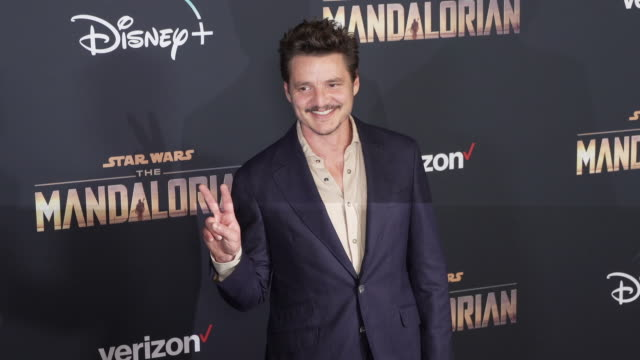 pedro pascal at the the mandalorian world premiere - pedro pascal stock videos & royalty-free footage