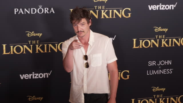 pedro pascal at the world premiere of disney's the lion king at dolby theatre on july 09 2019 in hollywood california - pedro pascal stock videos & royalty-free footage