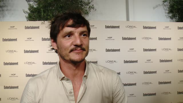interview pedro pascal on favorite television moments from this past season and on what entertainment weekly means to them at entertainment weekly's... - pedro pascal stock videos & royalty-free footage