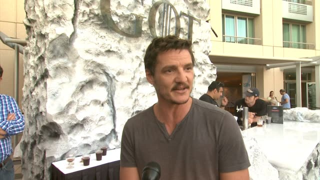 interview pedro pascal on his comiccon experience and and being a guest at wired cafe wired cafe @ comiccon day one at omni hotel on july 24 2014 in... - pedro pascal stock videos & royalty-free footage