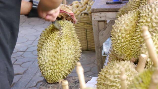 Geschält durian
