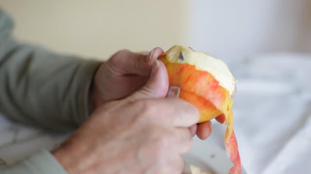 peeling apple - peeling food stock videos & royalty-free footage