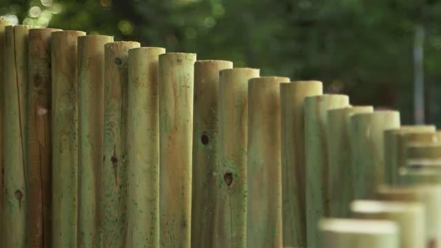 stockvideo's en b-roll-footage met peg fence - wasknijper
