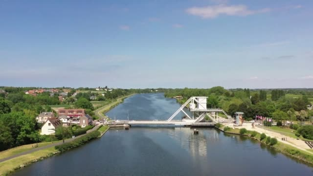 pegasus bridge in france's calvados region was a critical drawbridge the first site freed on the night of 5 june 1944 by british troops who flew in... - drawbridge stock videos & royalty-free footage