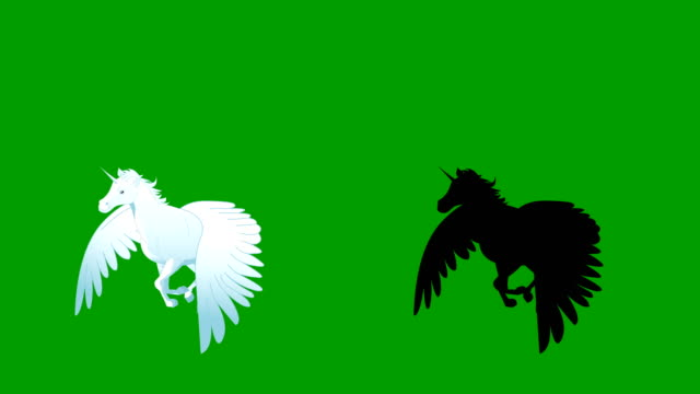 pegasus flying animation run cycle - pegasus stock videos & royalty-free footage