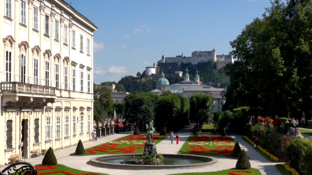 pegasus fountain - salzburg, austria - pegasus stock videos & royalty-free footage