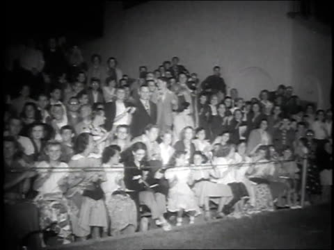 Peggy Dowl / crowd cheering / John Hudson / Julia Adams / Tony Curtis and Janet Leigh