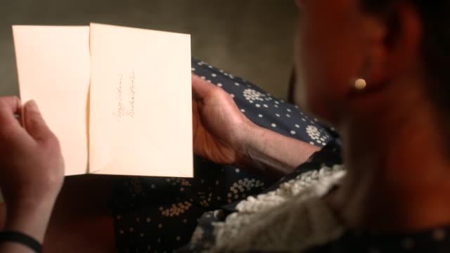 CU HA Peggy Guggenheim reading letters / Dundas Castle, Edinburgh, Scotland, United Kingdom