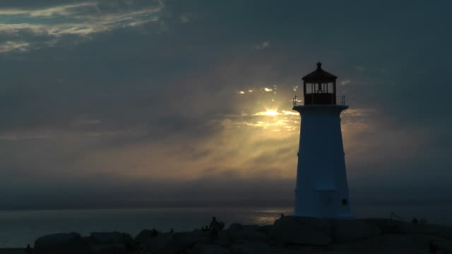 Peggy's Cove Lighthouse in Fog
