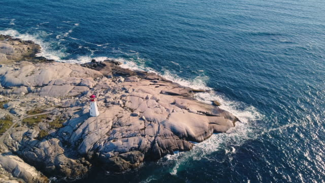 peggy's cove lighthouse - canada stock videos & royalty-free footage