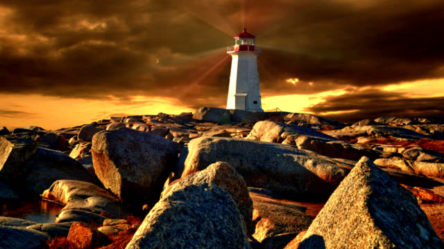peggy's cove sunset - nova scotia stock videos and b-roll footage