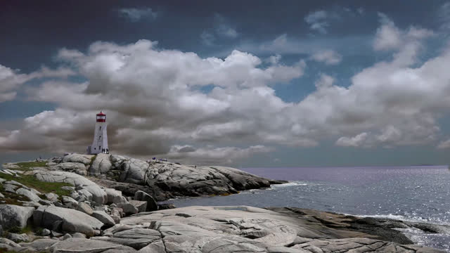 peggy's cove time lapse - dramatic sky stock videos & royalty-free footage