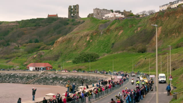 Peloton Near Finishing Line Marine Drive Scarborough North Yorkshire England