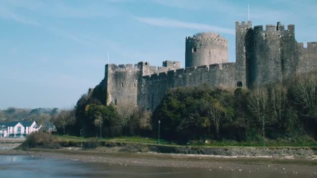 ms pembroke castle in wales / pembroke, wales, united kingdom - pembroke stock videos & royalty-free footage