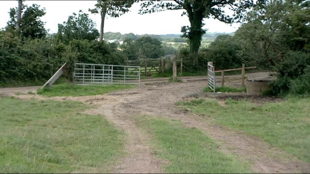pembrokeshire cresselly ext various of fields in countryside where the dance camp wales event took place - pembrokeshire stock videos & royalty-free footage