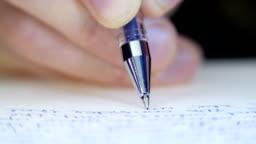 Pen writes