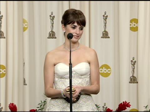 Pen_lope Cruz at the 81st Academy Awards Press Room at Los Angeles CA