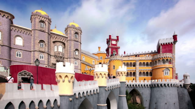 pena palace, lisbon, portugal - portuguese culture stock videos & royalty-free footage