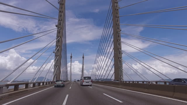 penang bridge for transport - penang stock videos and b-roll footage