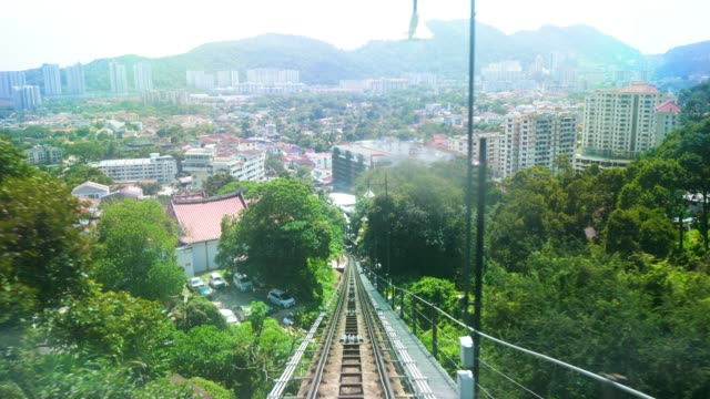 penang hill railway - penang stock videos and b-roll footage