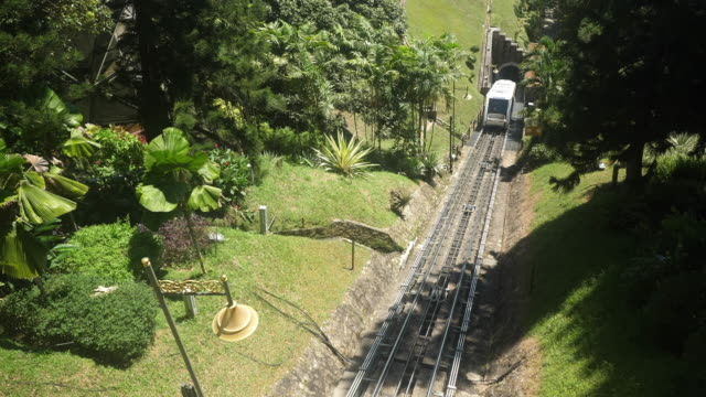 penang hill railway - cable car stock videos & royalty-free footage
