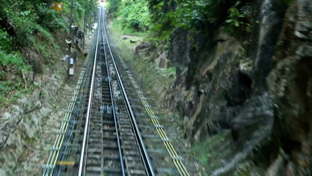stockvideo's en b-roll-footage met penang hill railway - kabelwagen