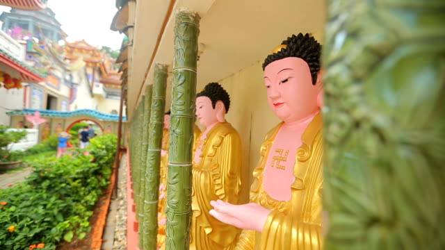 penang  kek lok si malaysia buddha temple - penang stock videos and b-roll footage
