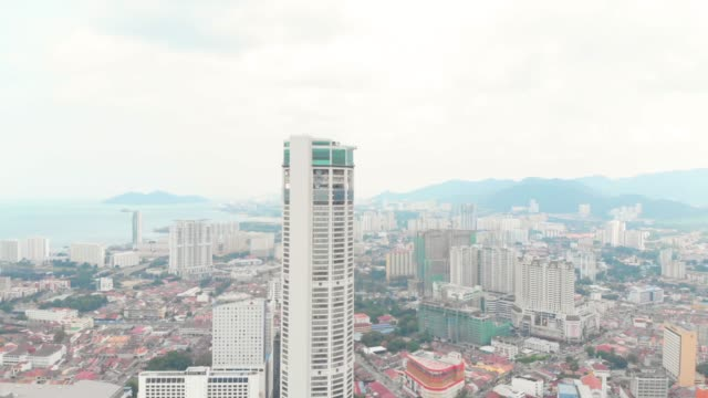 penang komtar town - tower stock videos & royalty-free footage
