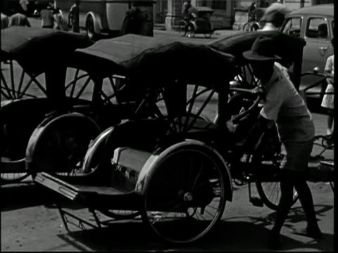 1950; penang malaya - rickshaws - history stock videos & royalty-free footage