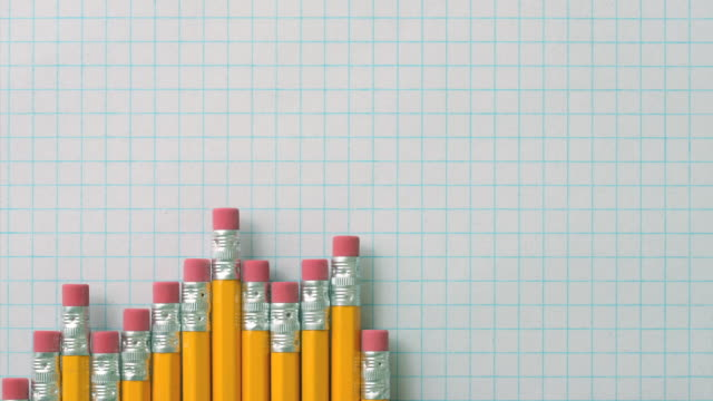 pencil graph - graph paper stock videos & royalty-free footage