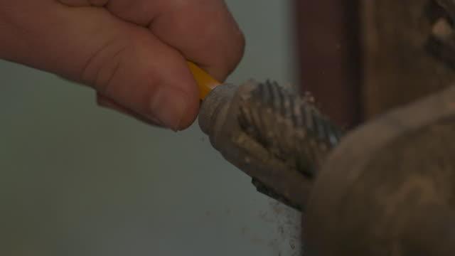pencil sharpener - phantom miro - pencil sharpener stock videos & royalty-free footage