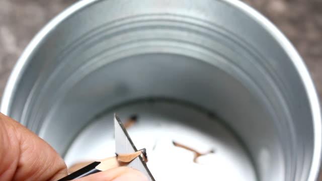 pencil sharpener - pencil sharpener stock videos & royalty-free footage