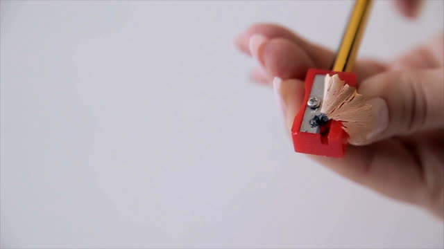 pencil sharpener,close up - sharp stock videos and b-roll footage