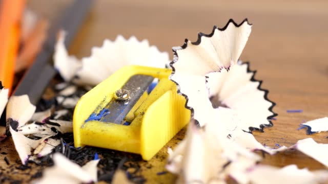 pencil with sharpener - crayon stock videos & royalty-free footage