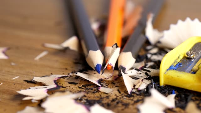 pencil with sharpener - pencil isolated stock videos & royalty-free footage